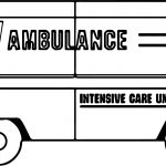 Ambulance Intensive Care Unit Coloring Page
