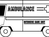 Ambulance Intensive Care Unit Coloring Page