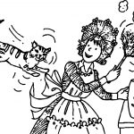 Amelia Bedelia And Cat Coloring Page
