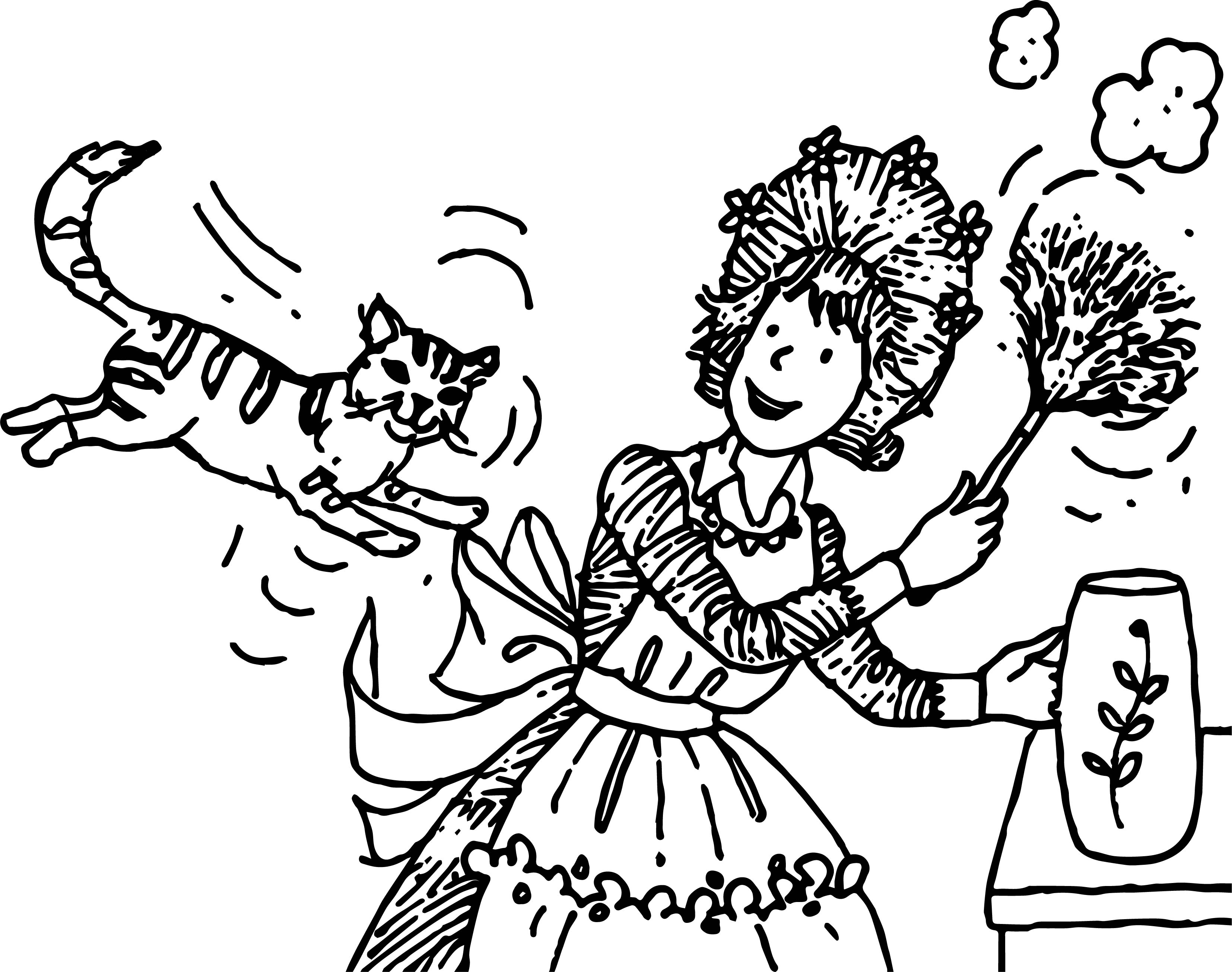 Uncategorized Amelia Bedelia Coloring Pages amelia bedelia and cat coloring page wecoloringpage page