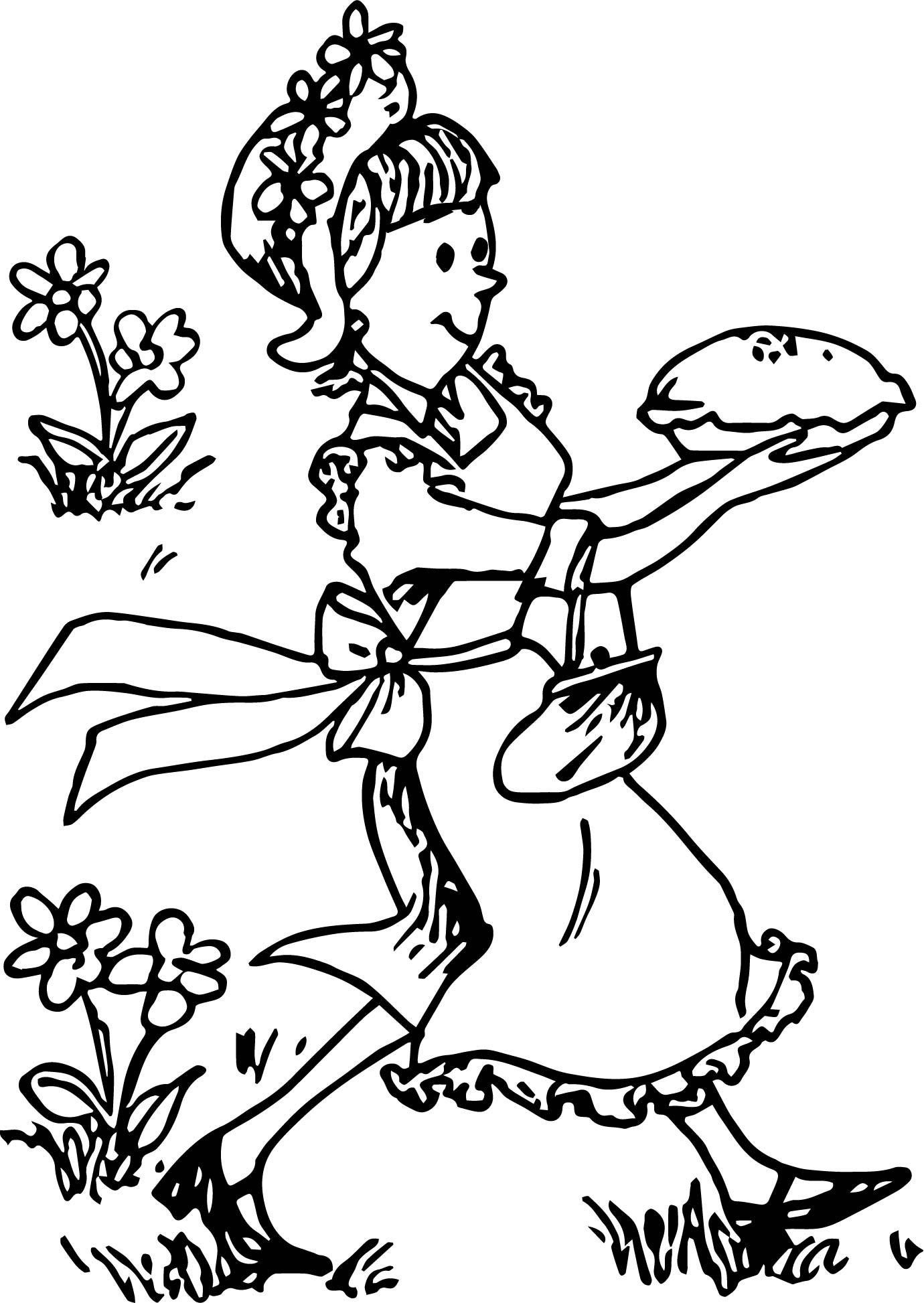 Amelia Bedelia Cake Coloring Page
