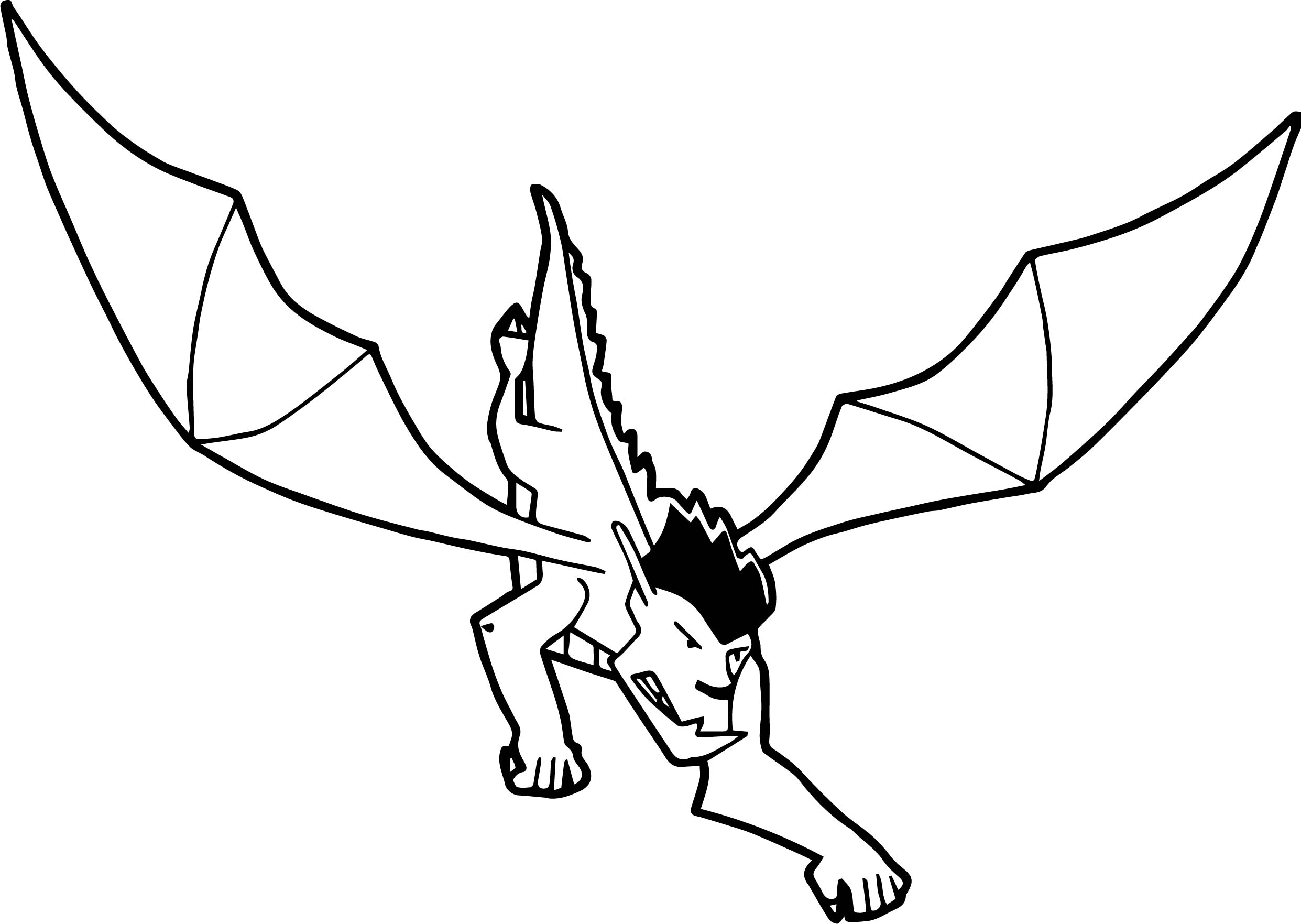 American Dragon Attack Coloring Page