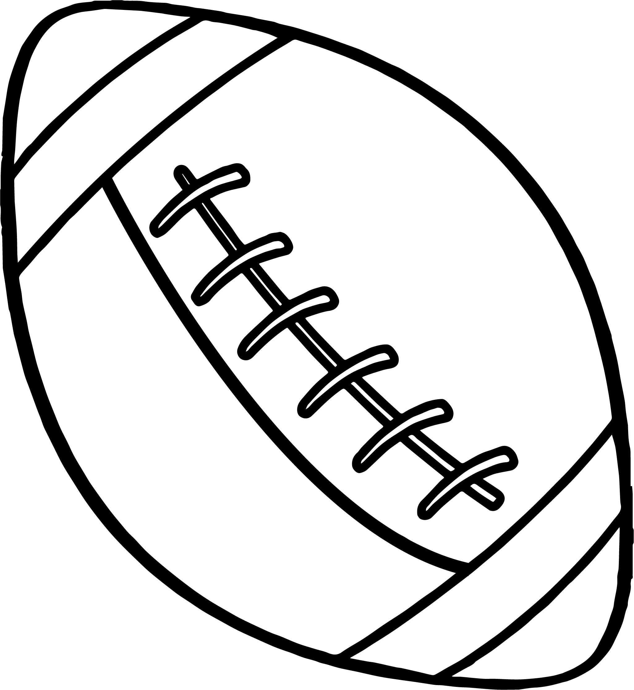 American Game Ball Playing Football Coloring Page