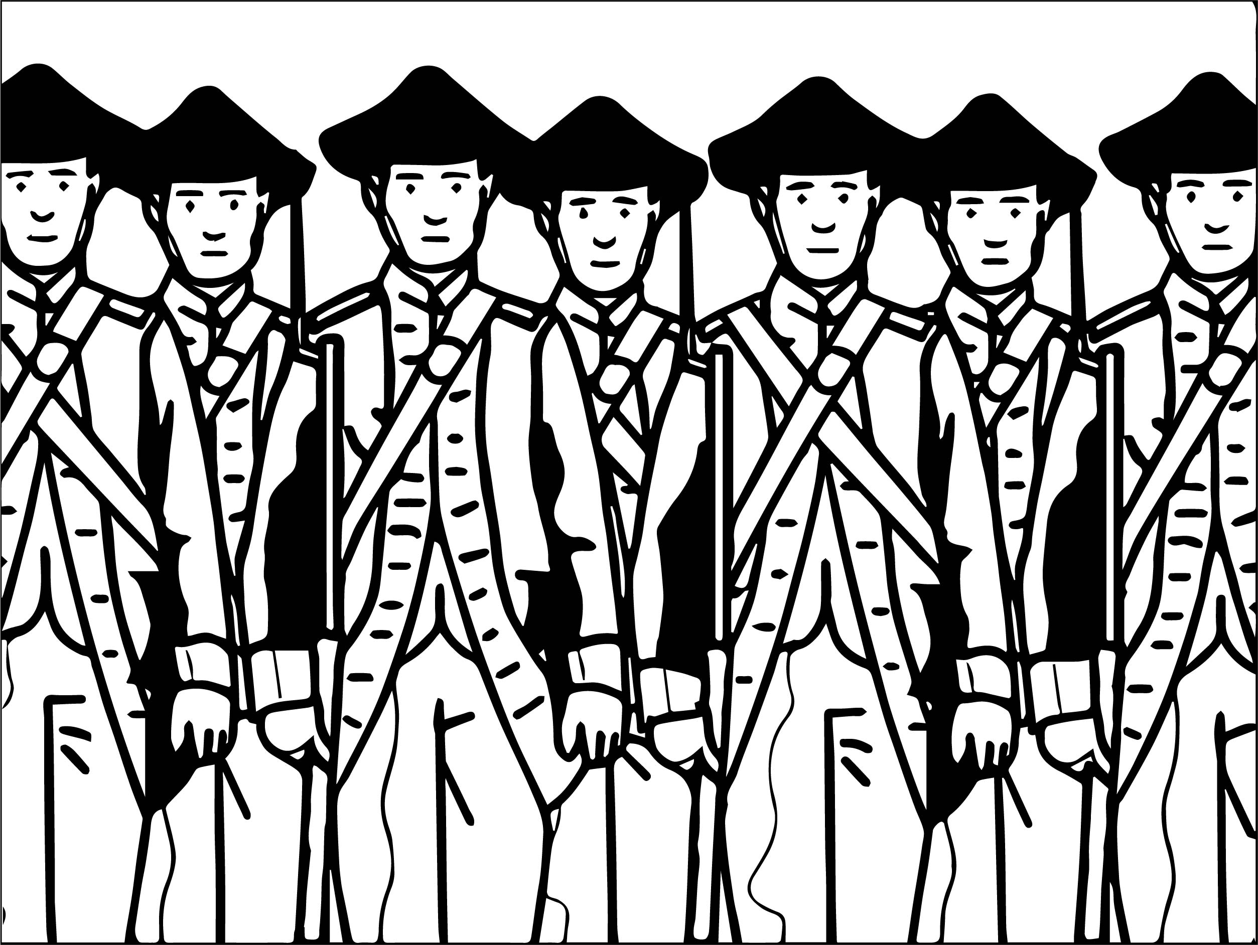 American Revolution All Soldier Coloring Page