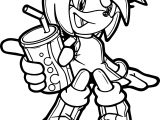 Amy Rose Drink Coloring Page