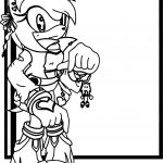 Amy Rose Key Chain Coloring Page