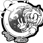 Amy Rose Peace Coloring Page