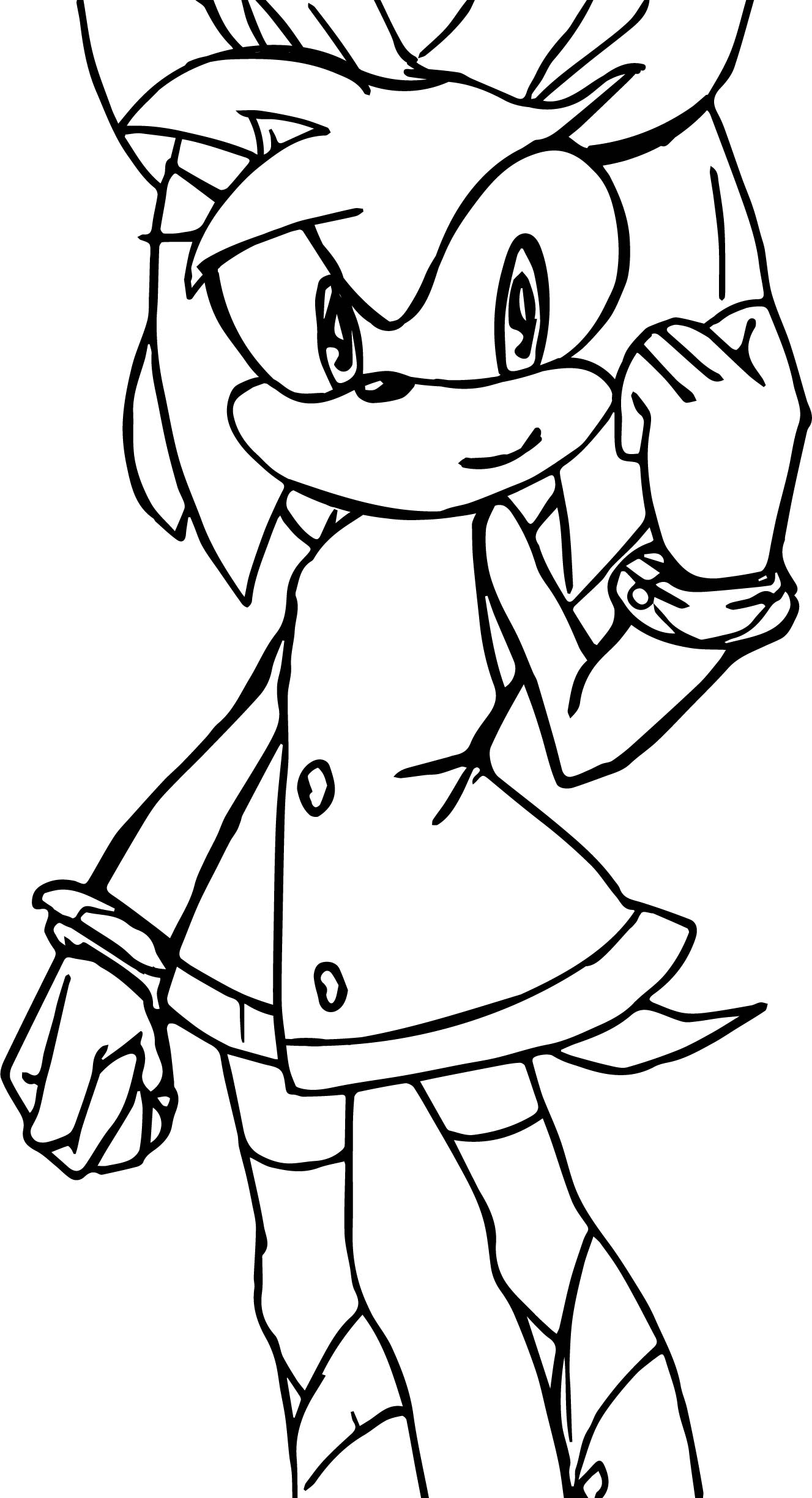 Amy Rose Yes Coloring Page