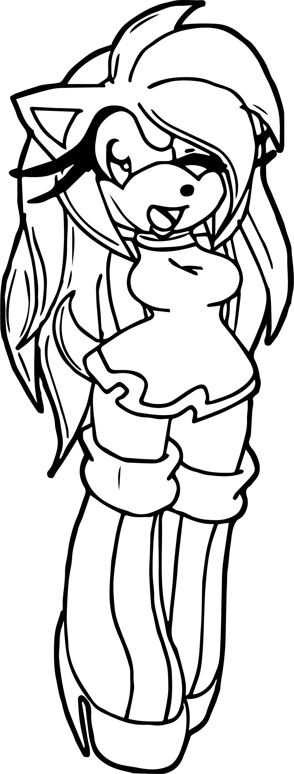 Amy Rose Yes Coloring Pages Wecoloringpage