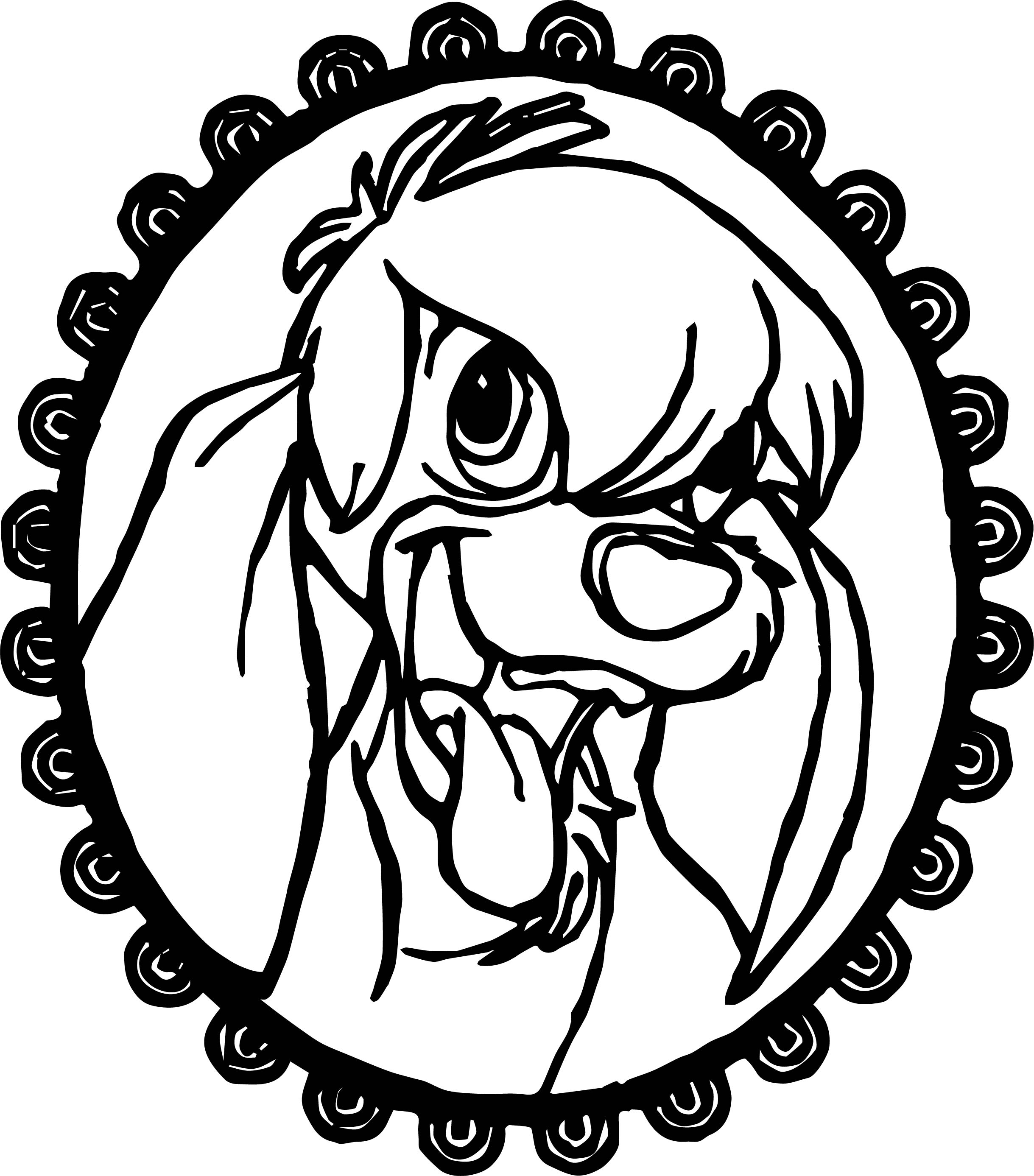 Anastasia Circle Dog Coloring Page