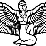Ancient Egyptian Figure Eagle Coloring Page