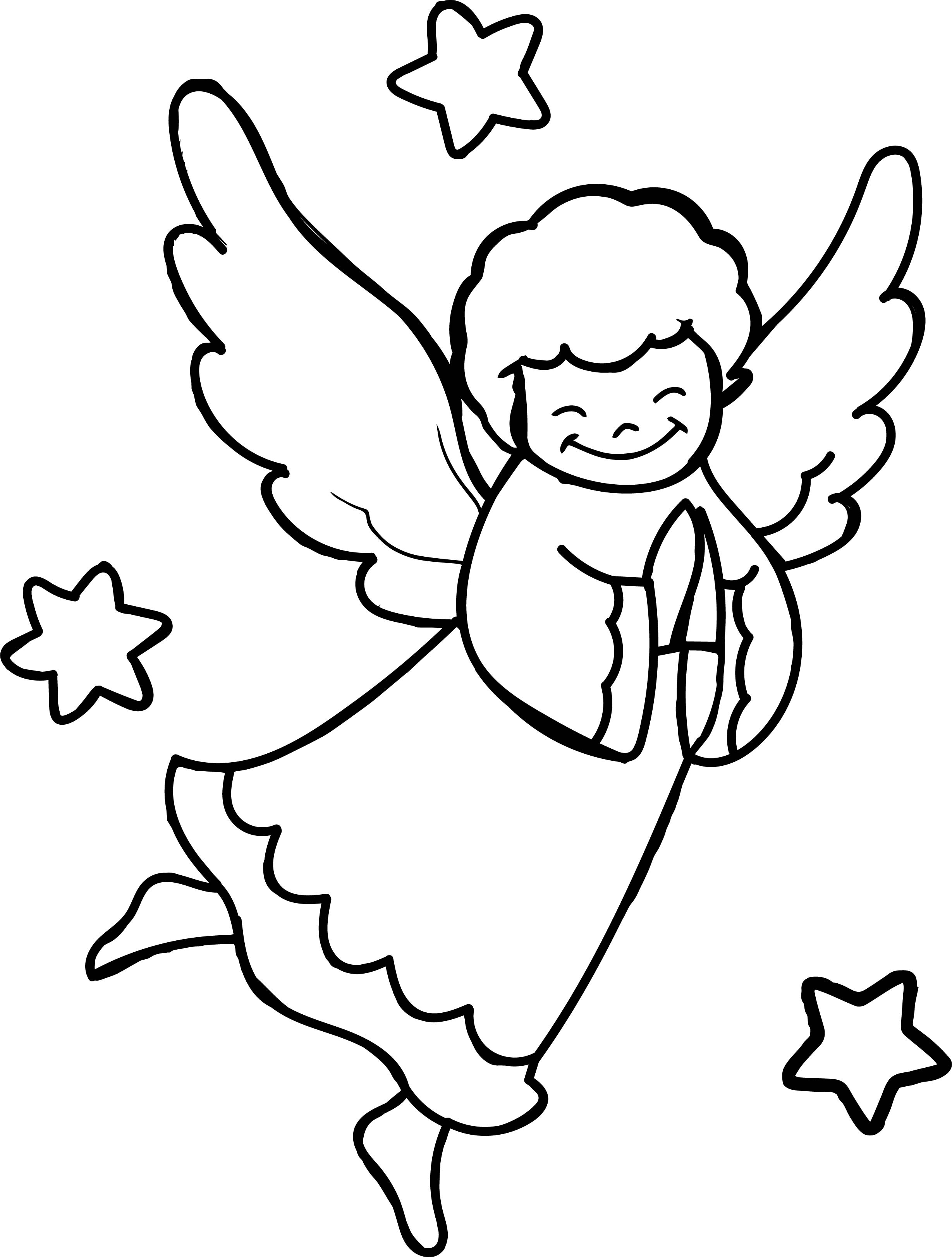 Angel Prayer Coloring Page