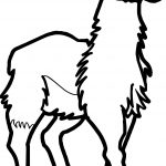 Angry Alpaca Coloring Page