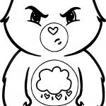 Angry Cloud Bear Coloring Page