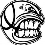 Angry Images Of Basketballs Ball Coloring Page