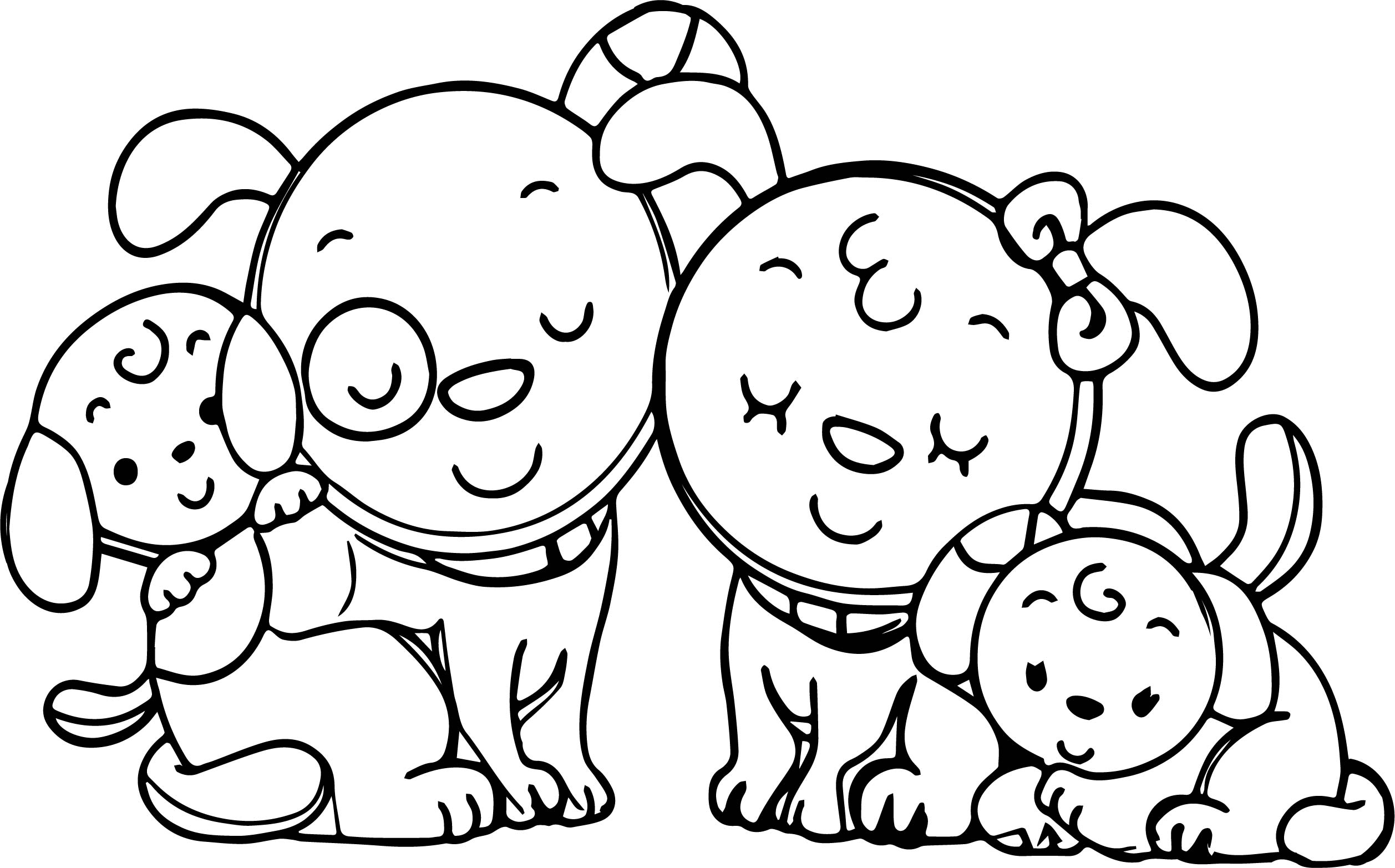 Animal Dog Family Family Coloring Page Wecoloringpage Family Coloring Page