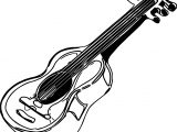 Antique Guitar Coloring Page