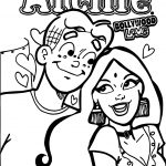 Archie Bollywood Love Coloring Page