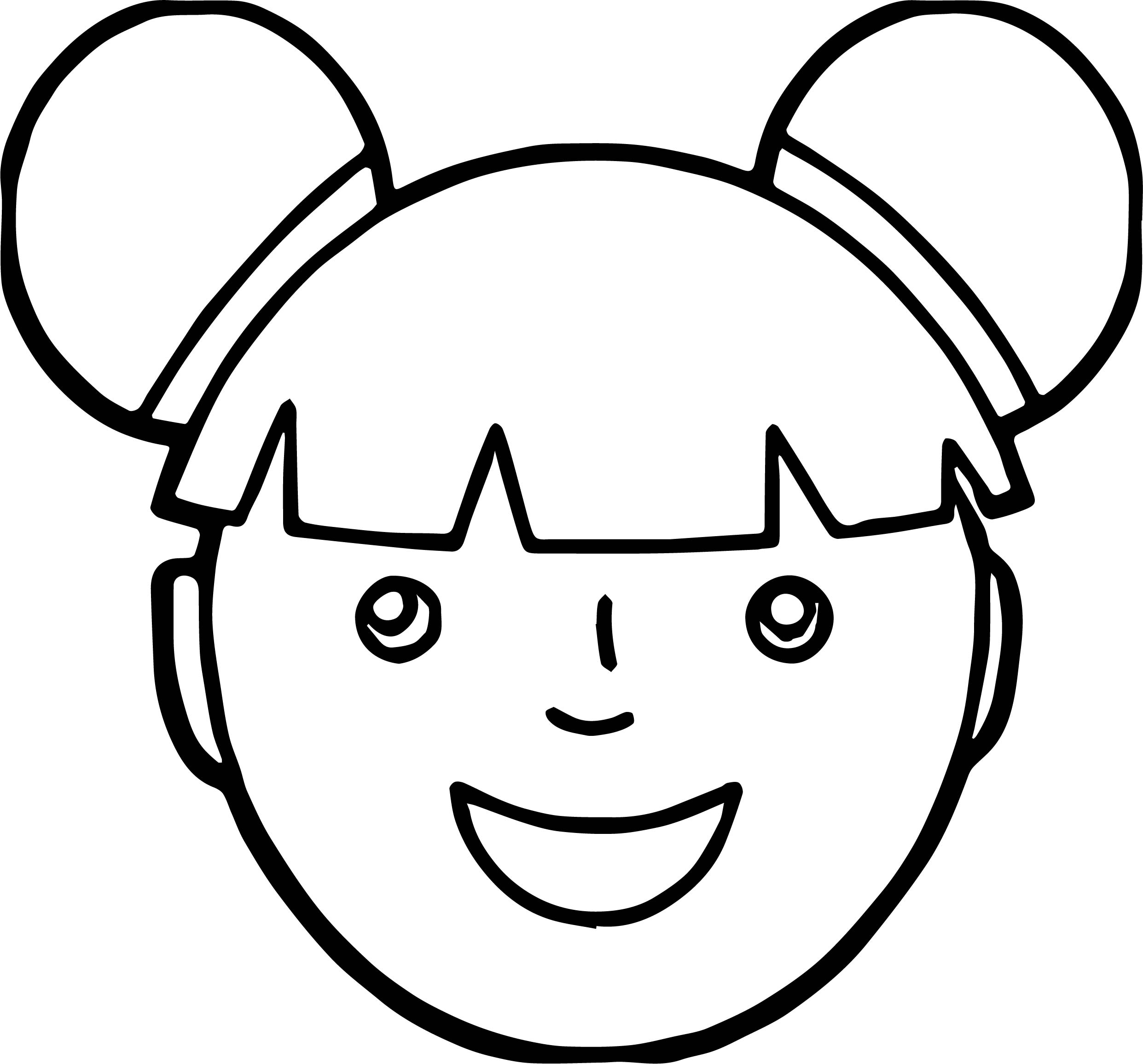 Uncategorized Face Coloring Pages asian girl face coloring page wecoloringpage page