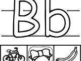 B Letter Coloring Page