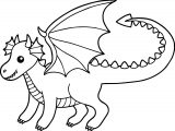 Baby Cute Dragon Coloring Page