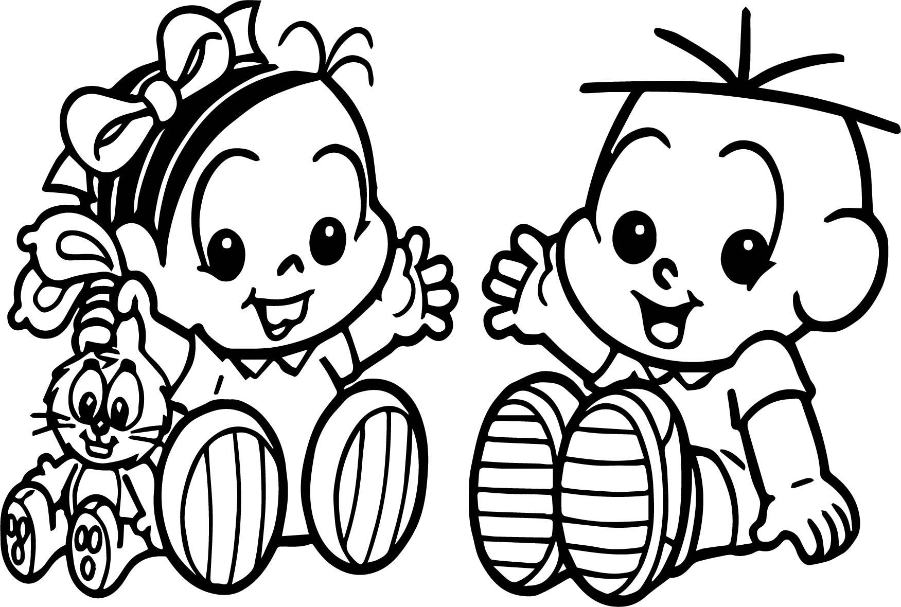 Baby Turma Da Monica Image Coloring Page