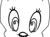 Baby Tweety Face Coloring Page