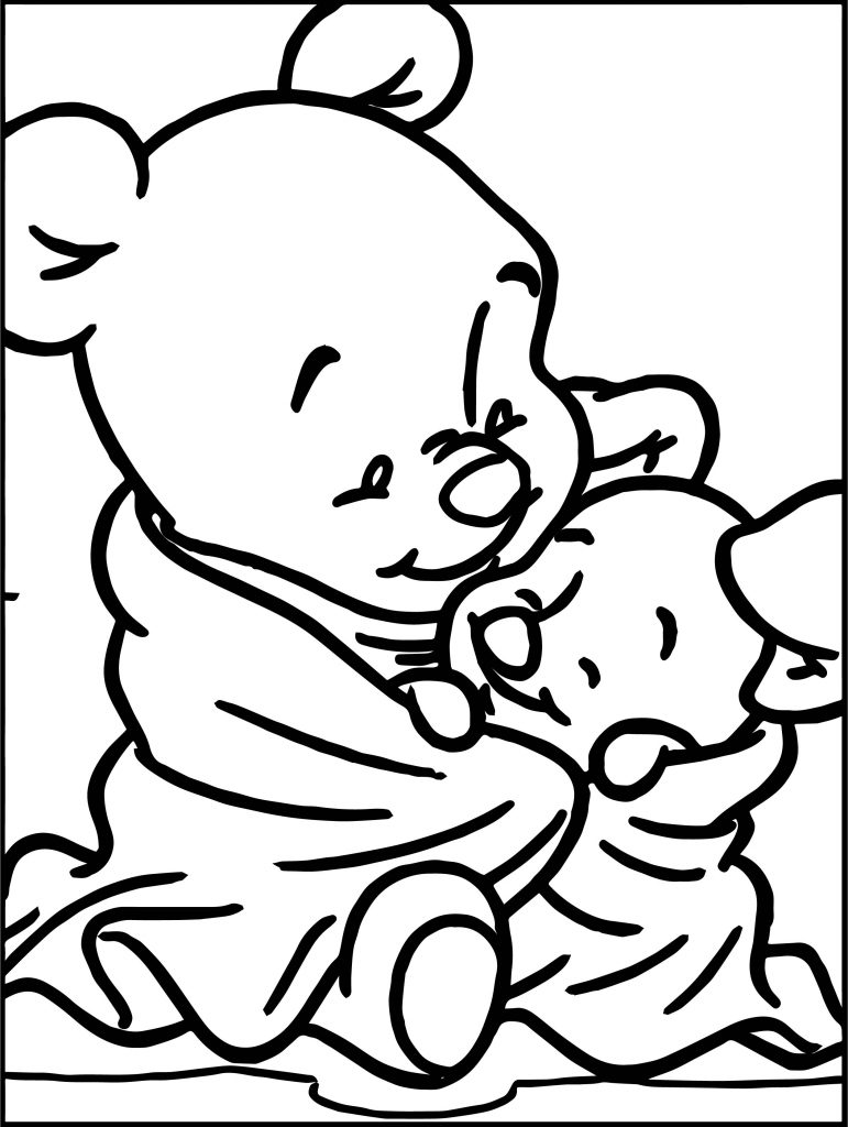 Winnie the pooh as a baby coloring pages ~ Baby Winnie The Pooh Baby Piglet Coloring Page ...