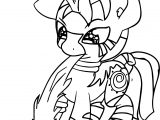 Baby Zecora Playing Coloring Page