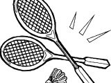 Badmington Tennis Two For Kid Playing Tennis Coloring Page