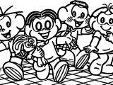 Baladinha Turma Da Monica Coloring Page
