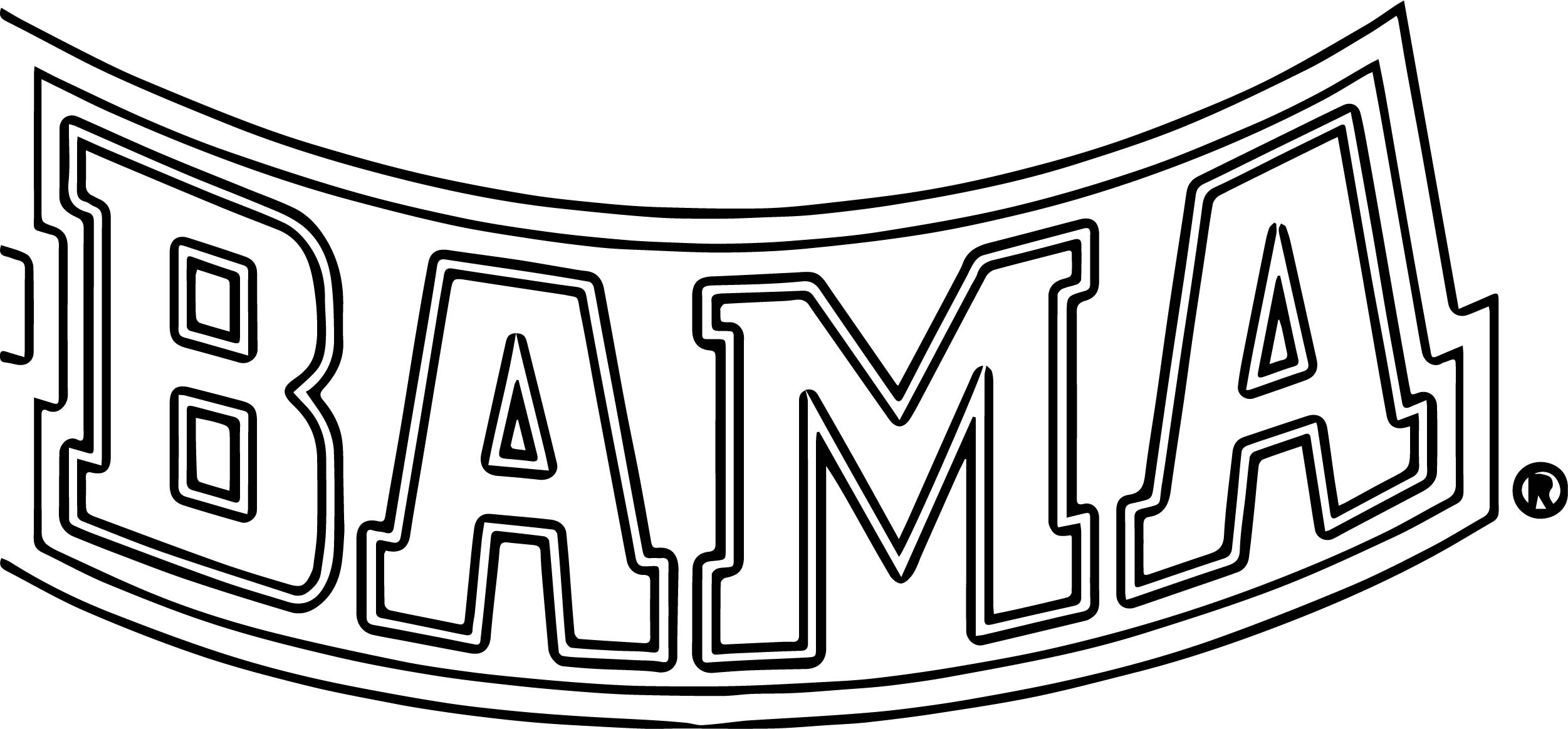 Bama Text Logo Coloring Page