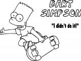 Bart The Simpsons Coloring Page