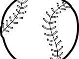 Baseball Ball Playing Baseball Coloring Page