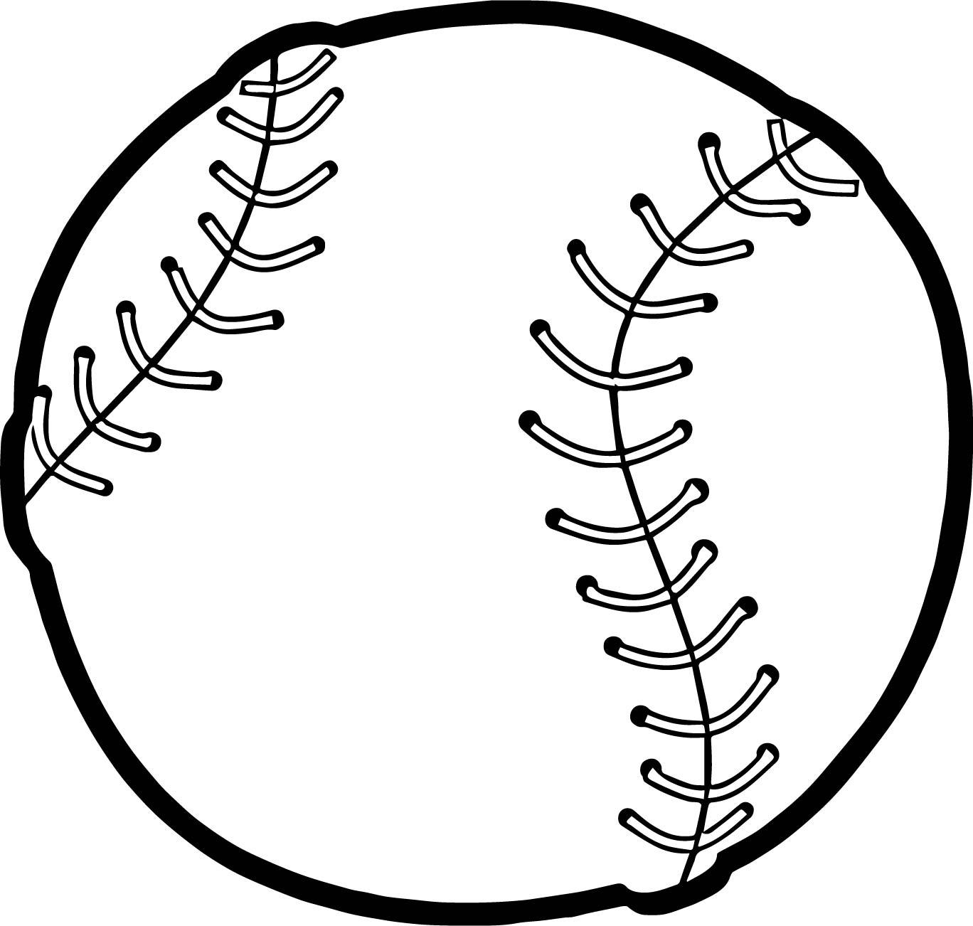 Baseball Ball Playing Baseball Coloring Page