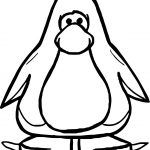 Basic Club Penguin Coloring Page