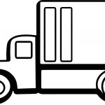 Basic Truck Coloring Page