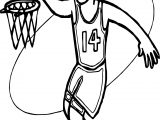 Basket And Man Playing Basketball Coloring Page