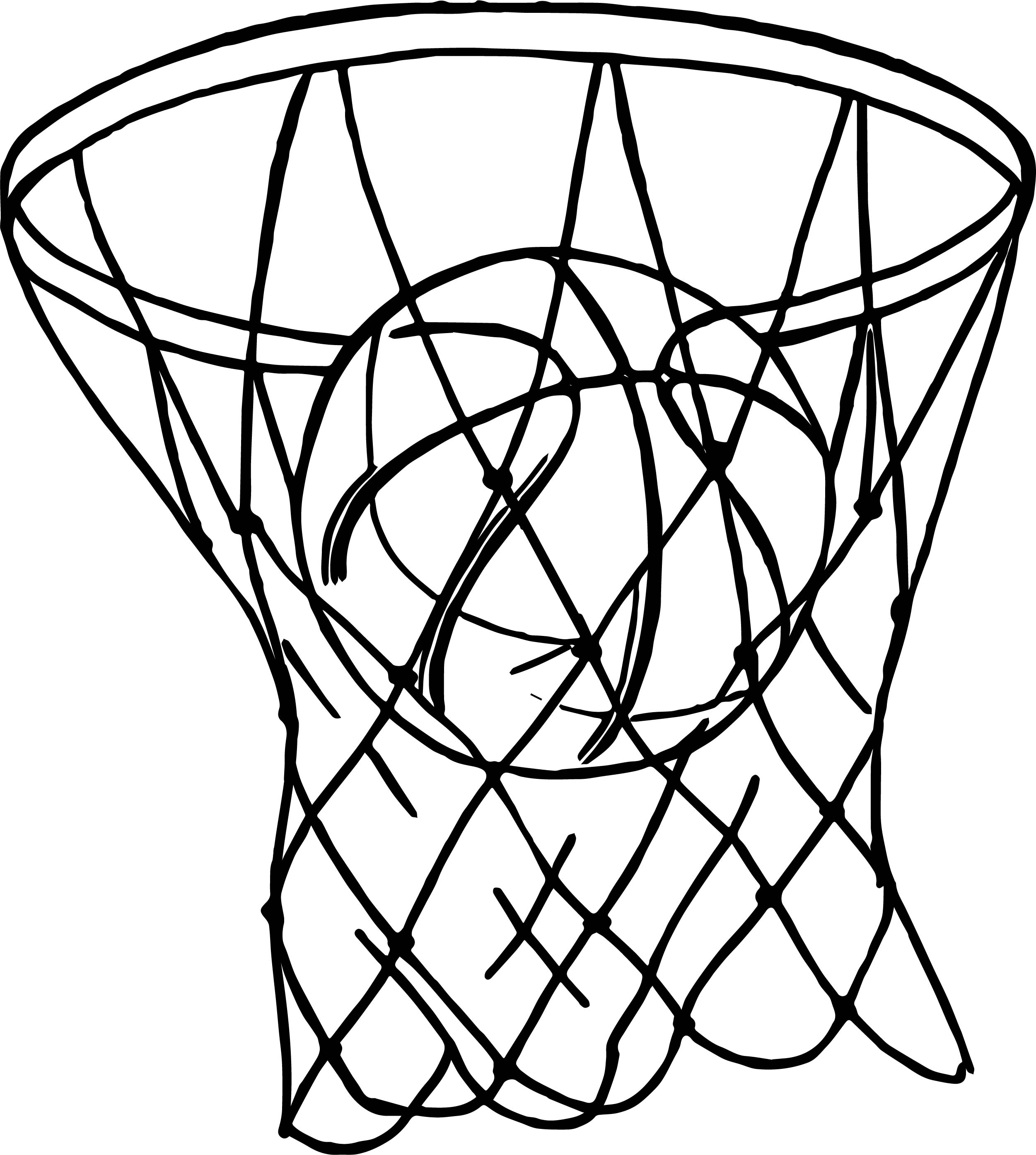 Basket playing basketball coloring page for Basketball coloring page