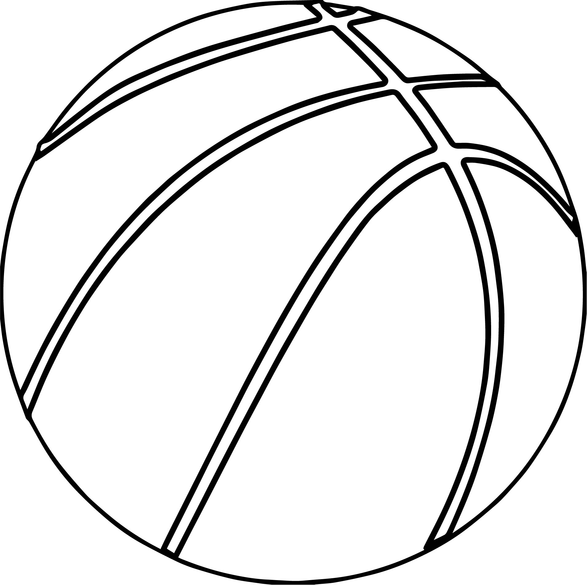 basketball ball outline coloring page wecoloringpage