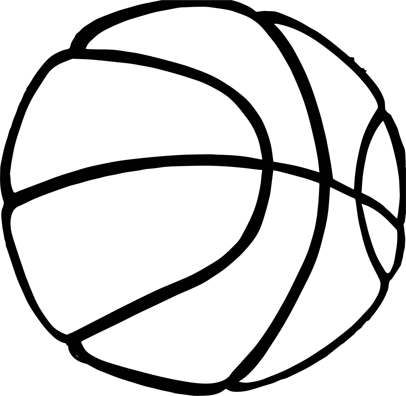 Basketball Hi Ball Playing Basketball Coloring Page