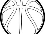 Basketball Outline Playing Basketball Coloring Page