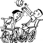 Basketball Wheelchair Playing Basketball Coloring Page