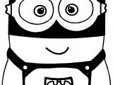 Batman Cartoon Minions Coloring Page