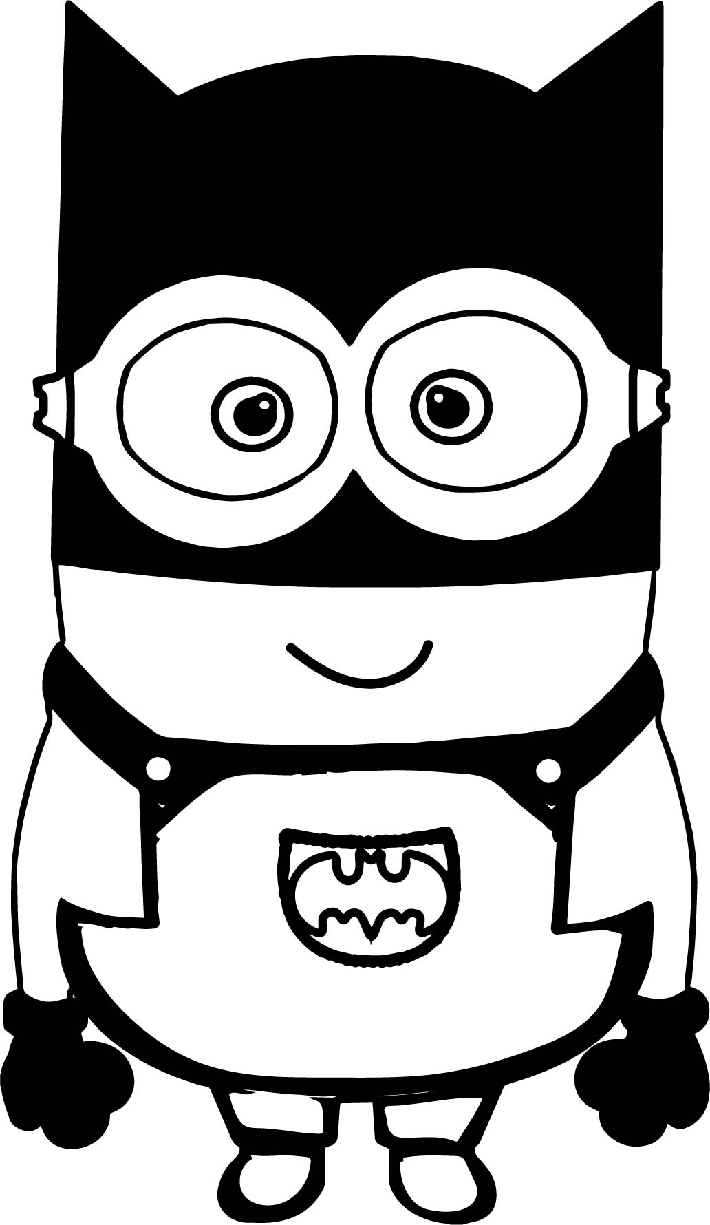 Batman Cartoon Minions Coloring Page Wecoloringpage