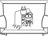 Batman and Robin Photo Cartoon Coloring Page
