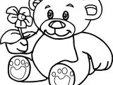 Bear Flower Coloring Page
