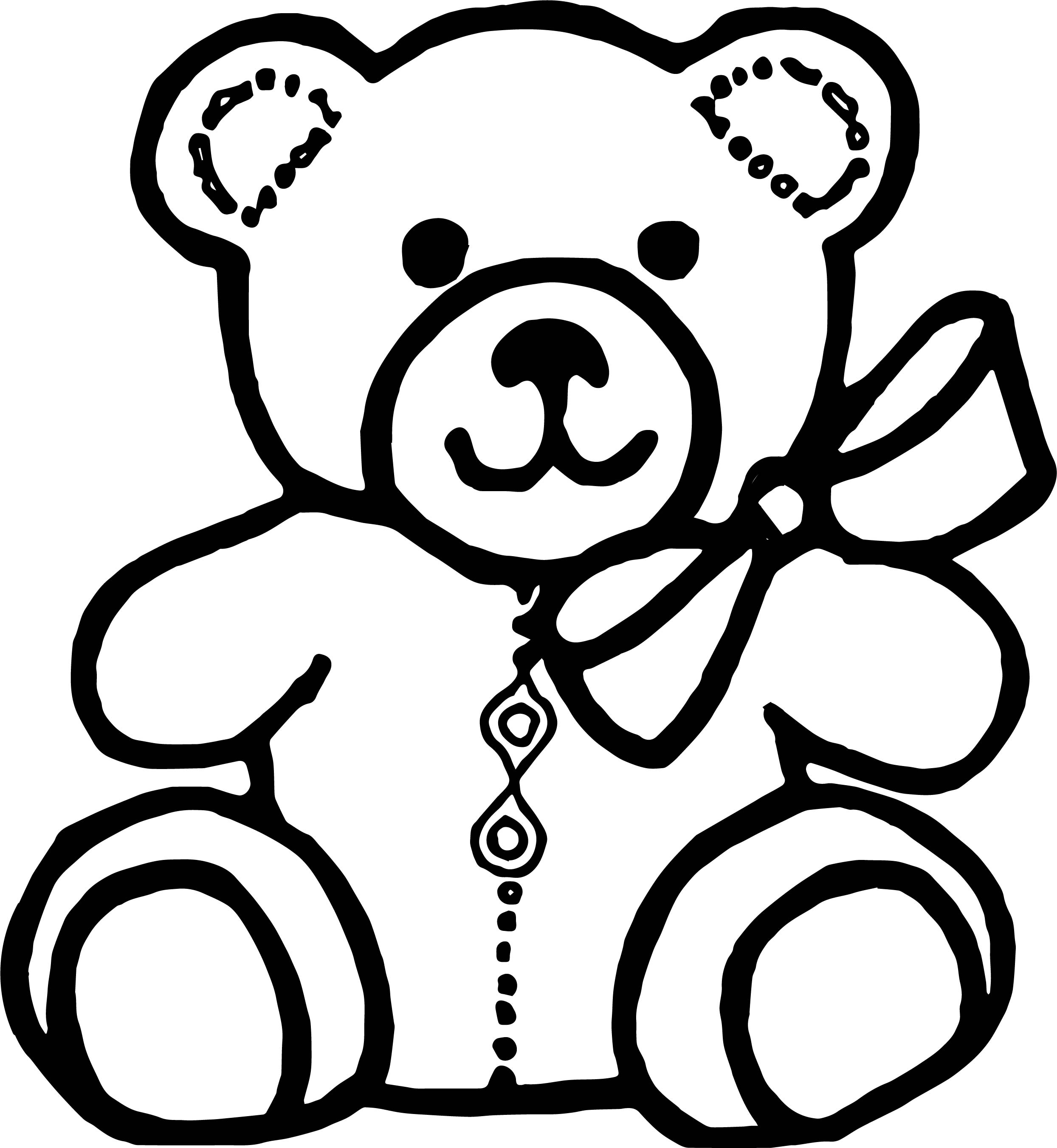 Bear Outline Coloring Page