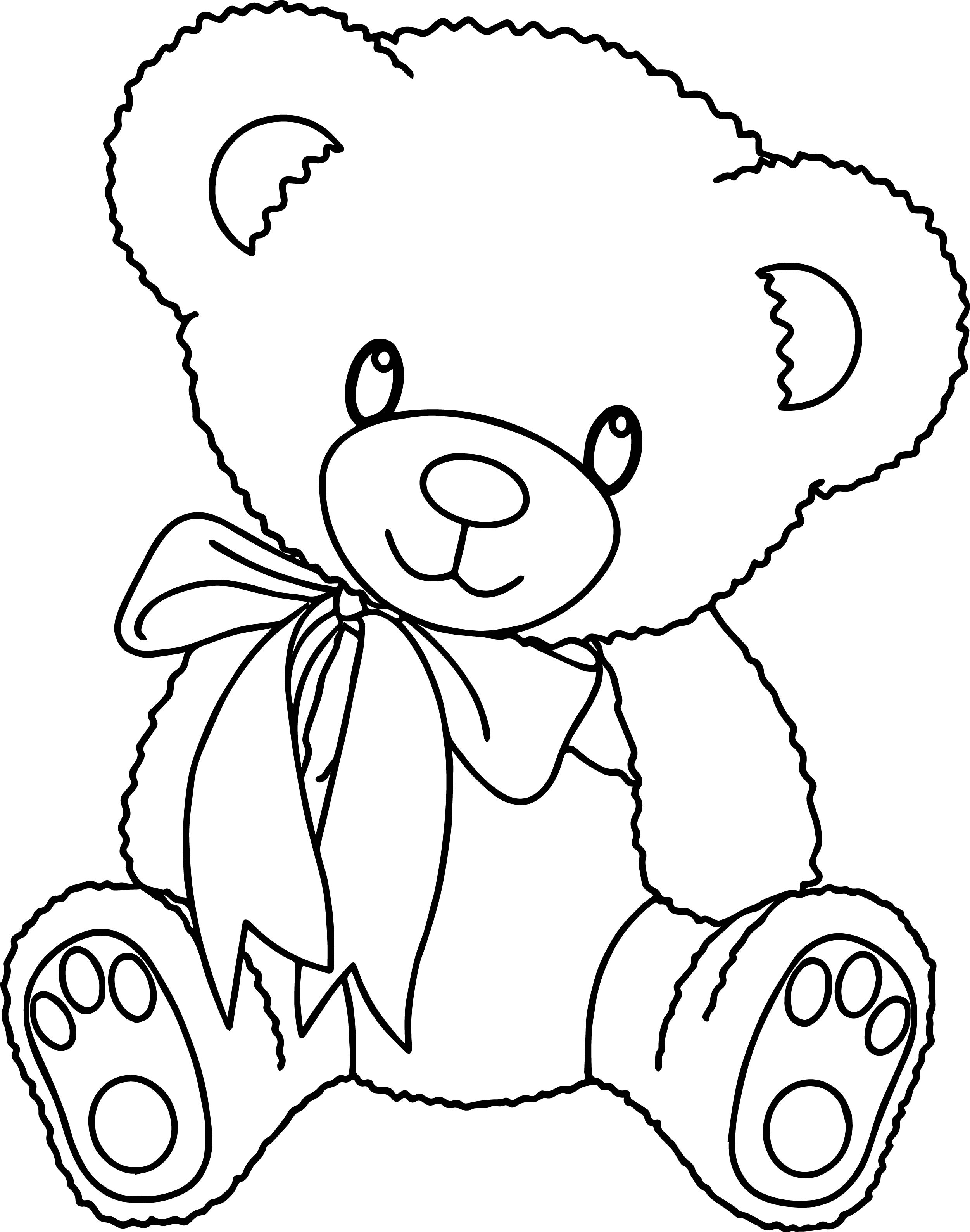 Bear Toy Family Coloring Page