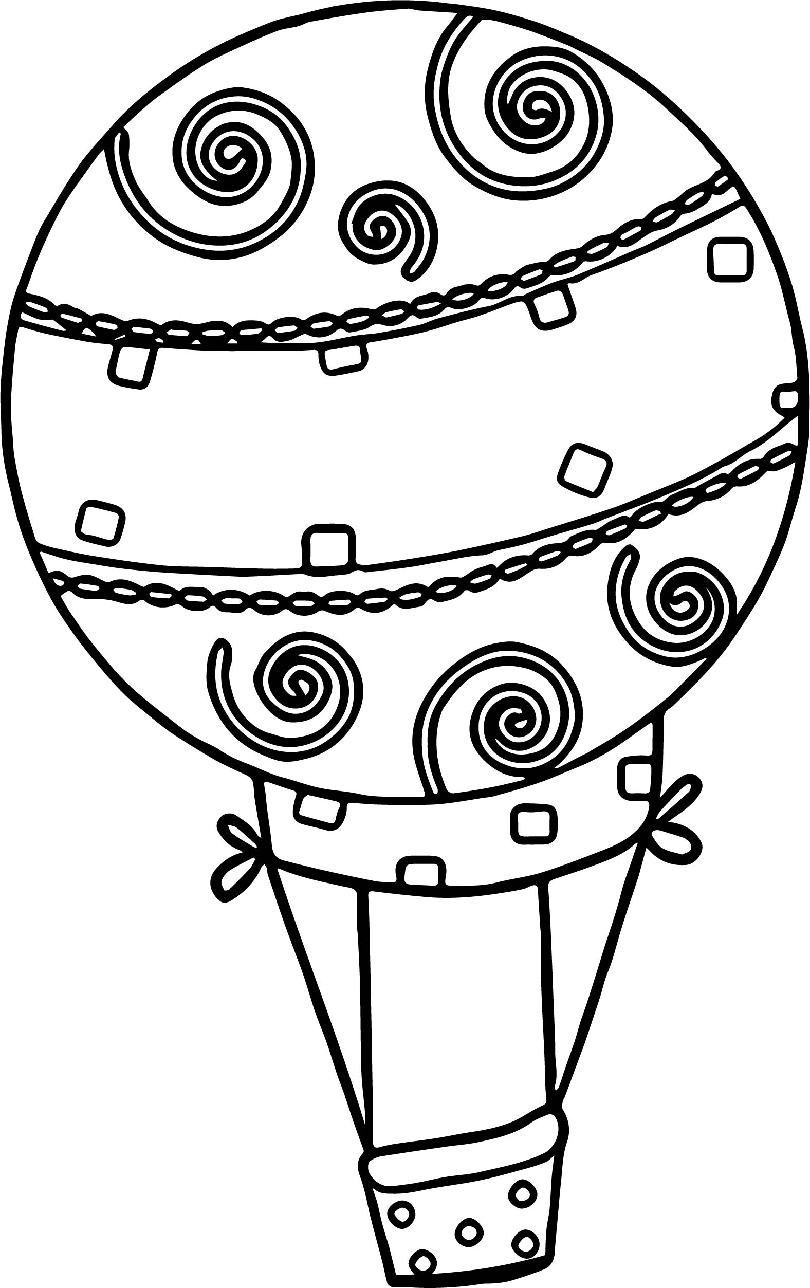 Beautiful Air Balloon Coloring Page